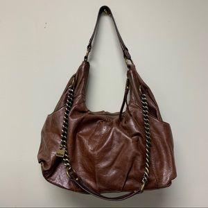 Hobo Brown Leather Sling Crossbody Purse